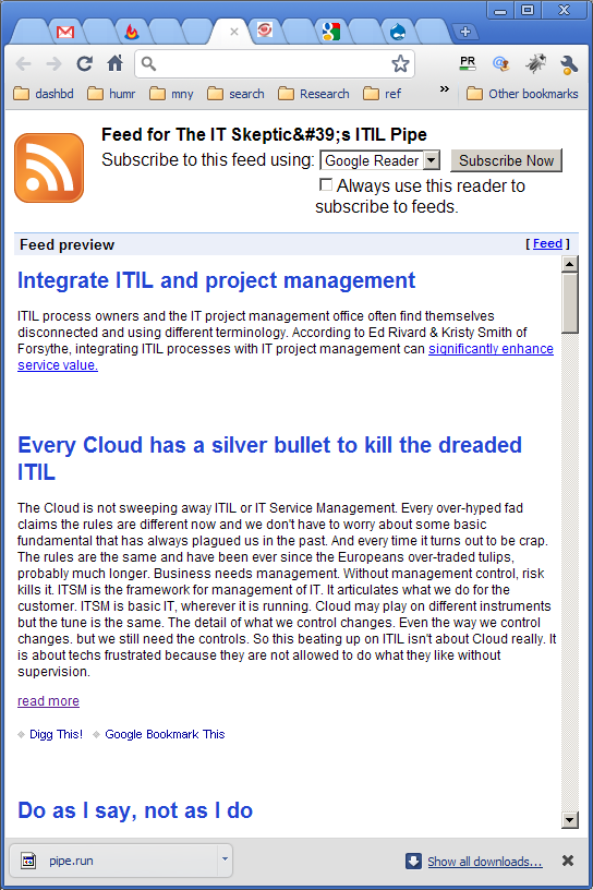 The It Skeptics Itil News Feed The It Skeptic